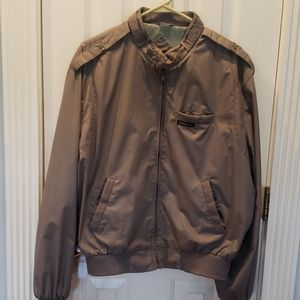 Members Only Mens Jacket Bomber Gray Vintage Sz 44
